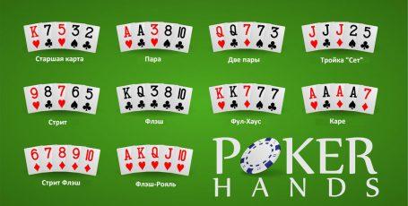 Комбинации техасского покера