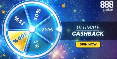 Вращай колесо и возвращай до 100% рейка на 888poker!